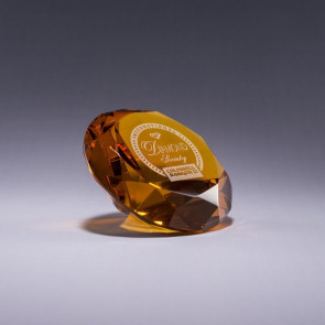 Diamond Paperweight - Amber