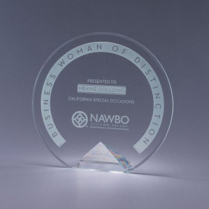 Crystal Award - Engraved - Clear Base