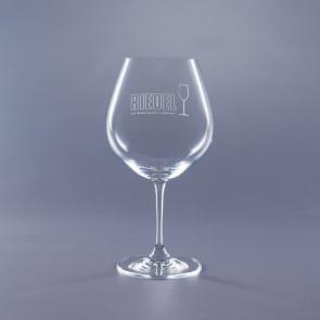 Riedel Lead Crystal Engraved Vinum Burgundy Wine Glasses 24.75oz.