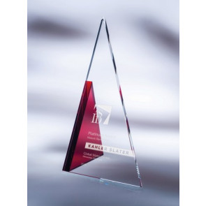 Apex Starphire Crystal Award Red - SM