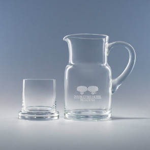 Executive Water Set 28 oz Pitcher - Engraved and one 8 oz. Glass