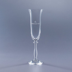 7oz. Angela Flute Glass - Engraved - Set of 2