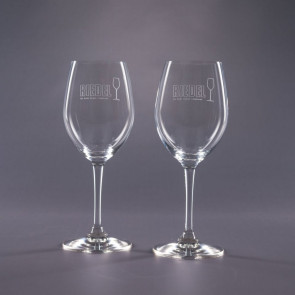 Riedel Engraved White Wine Glasses- Traveler 12oz.