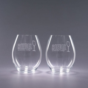 Riedel Engraved Stemless Red Wine Glasses- Traveler 20oz.
