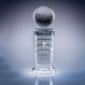 Empire Golf Trophy Engraved Crystal Award- SM