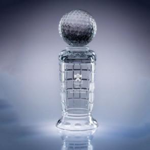 Empire Golf Trophy Engraved Crystal Award - Med