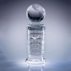 Empire Globe Engraved Crystal Award - LG