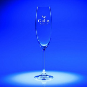 7.5oz. Options Flute Glass - Engraved - Set of 2