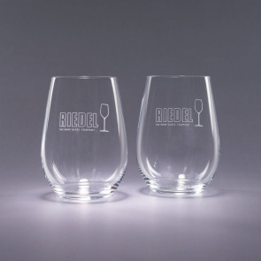 Riedel Stemless Engraved Riesling Wine Glasses - Traveler 13.25oz