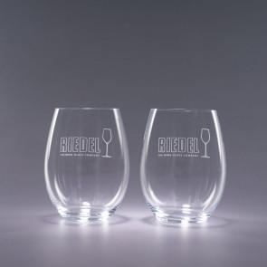 Riedel Stemless Engraved Cabernet Wine Glasses - Traveler 21oz