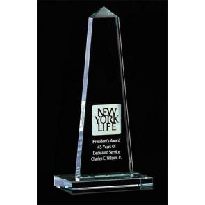 Optic Crystal Obelisk Award  - SM