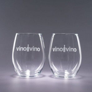 17oz. Trendsetter Stemless Wine Glasses Set of 2- Engraved