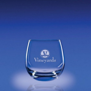 15oz. Tangent Stemless White Wine Glasses Set of 4 - Engraved