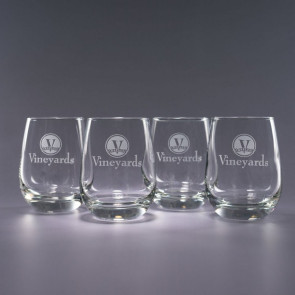 15.5oz Tangent Stemless Wine Glasses - Traveler Box Set/4