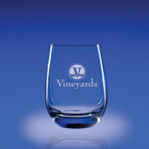 15.5oz. Tangent Stemless Red Glasses Set of 4 - Engraved