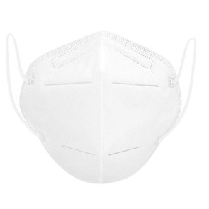 White KN95 Mask with earloops