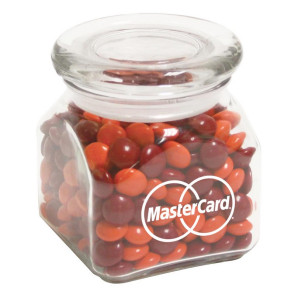 Contemporary Glass Jar - Chocolate Buttons (10 oz.)