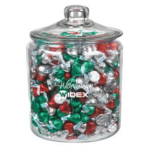 Gallon Glass Jar - Hershey's Holiday Kisses