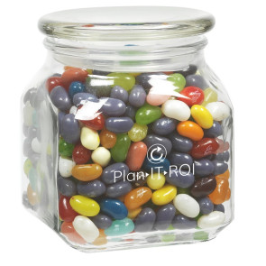 Contemporary Glass Jar - Jelly Belly Jelly Beans (20 oz.)