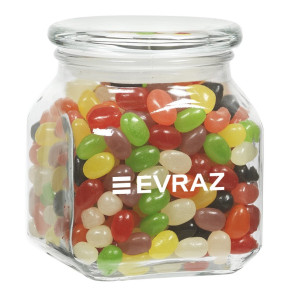 Contemporary Glass Jar - Assorted Jelly Beans (20 oz.)