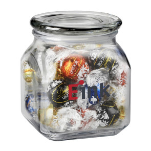 Contemporary Glass Jar - Lindt