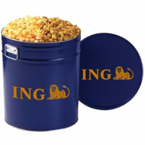 2 Way Popcorn Tins - Caramel & Cheddar Popcorn (6.5 Gallon)