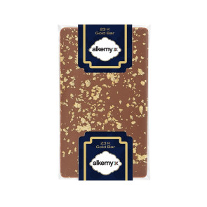 1 oz Belgian Chocolate Bar with 23K Gold Flakes