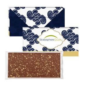 3.5 oz Executive Custom Chocolate Bar with 23K Gold Flakes