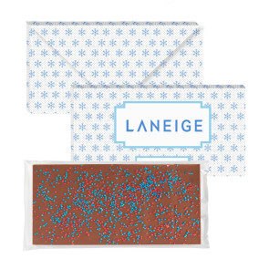 3.5 oz Executive Chocolate Bar with Corporate Color Nonpareils
