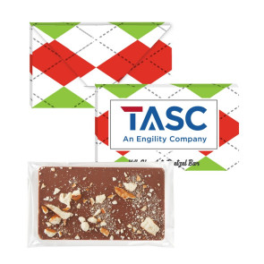 1 oz Executive Custom Chocolate Bar with Salted Pretzels