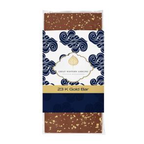 3.5 oz Custom Chocolate Bar with 23K Gold Flakes