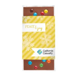 3.5 oz Custom Chocolate Bar with M&M'S®
