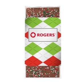3.5 oz Custom Chocolate Bar with Holiday Nonpareil Sprinkles