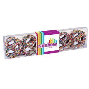 Chocolate Covered Pretzel - Rainbow Nonpareil Sprinkles (10 pack)