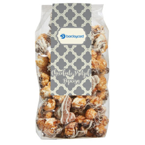 Contemporary Popcorn Gift Bag - Chocolate Pretzel Popcorn