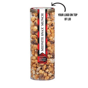 Executive Popcorn Tube - Midnite Snax Munch Popcorn