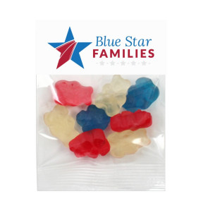 1 oz. Corporate Colors Gummy Bears in Header Bag