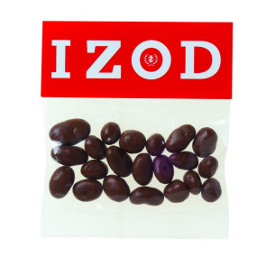 Chocolate Raisins in Header Bag (2 oz.)