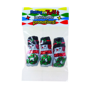 Chocolate Snowmen in Header Bag (1 oz.)
