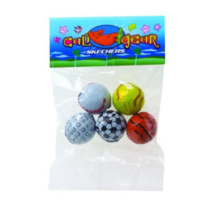 Chocolate Sport Balls in Header Bag (1 oz.)