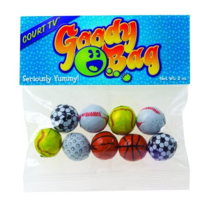 Chocolate Sport Balls in Header Bag (2 oz.)
