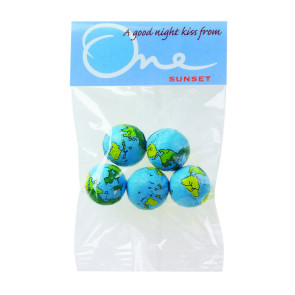 Chocolate Earth Balls in Header Bag (1 oz.)