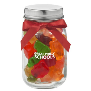 4 oz. Glass Mason Jar with Gummy Bears