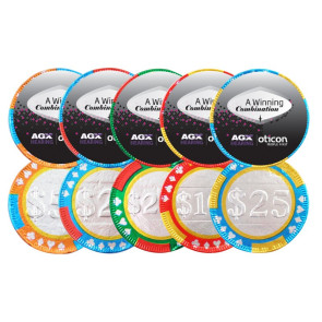 Chocolate Poker Chip with Label