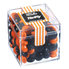 Creepy Candy Box with Halloween Chocolate Buttons