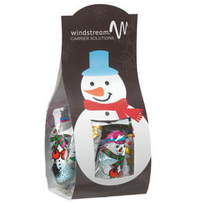 Candy Desk Drop with Chocolate Snowman (Small)