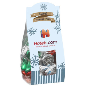 Candy Desk Drop with Hershey Holiday Kisses (Small)