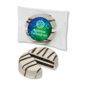 White Chocolate Covered Oreo Cookie Individually Wrapped