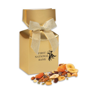 Western Trail Mix in Gold Premium Delights Gift Box
