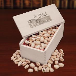 Jumbo California Pistachios in Wooden Collector's Box